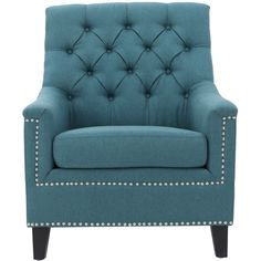 Add a lovely appearance to your living room by choosing this Noble House Jaclyn Tufted Dark Teal Fabric Club Chair with Stud Accents. Teal Fabric, Plaid Fabric, Acrylic Table, Fabric Armchairs, Small Armchairs, Coat Stands, Dark Teal, Dark Brown, Toss Pillows