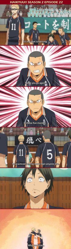 aww tsukki you little munchkin. <3 | Haikyuu!! Tsukishima Kei and Yamaguchi Tadashi
