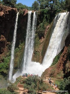 Cascade d'Ouzoud is Morocco's biggest waterfall. Good place for lunch.