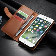 Women Men Multifunctional iPhone7 Plus PU Leather Phone Case Wallet Card Holder