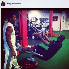 Miami Heat's Dwayne Wade training with #TRX. #NBA #basketball