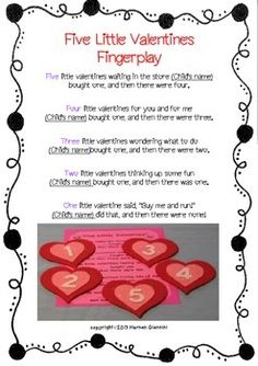 Valentine Rymes and Fingerplays (Mini-Lesson/Literacy Center) Valentines Day Songs, Valentine Theme, Valentines For Kids, Valentine Nails, Valentine Ideas, Preschool Valentine Crafts, Preschool Music, Valentines Day Activities, Circle Time Songs