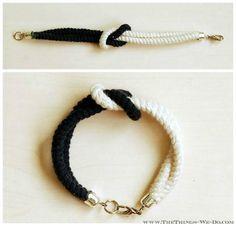 DIY Jewerly DIY Nautical Rope : DIY Square Knot Rope Bracelet