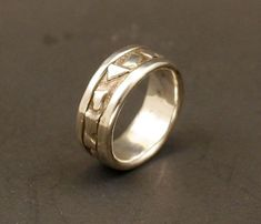 Mens Wedding Ring Rustic Wedding Band Organic Wedding Band