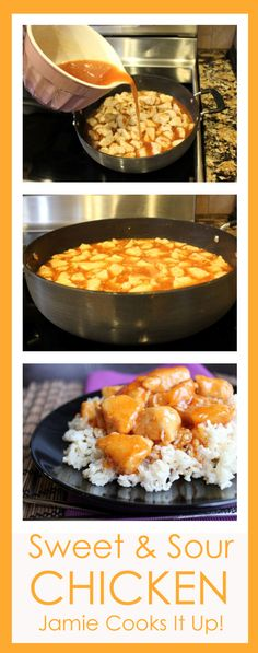 Sweet and Sour Chicken from Jamie Cooks It Up! #30minutedinner, #chickendinner, #easydinner, #jamiecooksitup