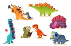 Super cute reading Dinosaurs =)