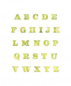 Yellow Painted Alphabet