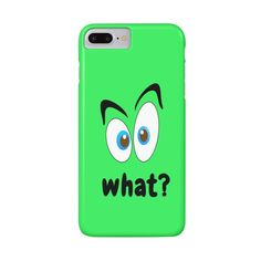 "Nice funny Phone Case ""What?"".Surprise every fay!!! #phone,#phonecase,#sugark,#sugarksmile,#iphone,#whta,#discounts,#threadless"