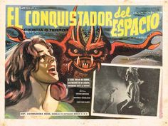 Superbly executed lobby card for a less than stellar movie. Even the monster looks fantastic in this illustration. (It Conquered the World).