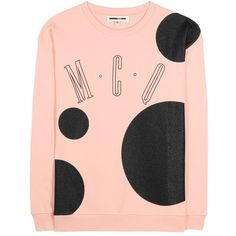 McQ Alexander McQueen Printed Sweatshirt featuring polyvore women's fashion clothing tops hoodies sweatshirts pink pink top mcq by alexander mcqueen pink sweatshirts