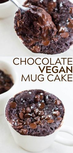 The BEST Chocolate Vegan Mug Cake! Super fudgy, moist and easy to make anytime you need a chocolate fix! #vegan #plantbased