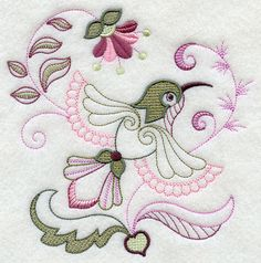 Itching to try crayon coloring but not fond of hand embroidery? These machine embroidery designs stitch up quickly and color nicely!