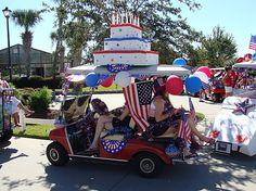 ... ,usa,decorations,parade photos,golf cart parade,independence day,2010