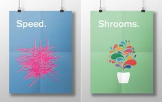 """""""This is your brain on drugs"""" – Illustrative Posterserie von Meaghan Li"""