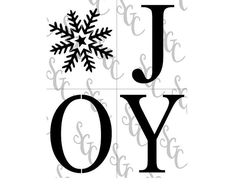 Reusable Stencil - Joy with a Snowflake - Tall Letters for Vertical Sign! Christmas Stencils, Hello Winter, Custom Stencils, Christmas Tree Farm, Happy Fall, Rustic Design, Wooden Signs, Make Your Own, Snowflakes