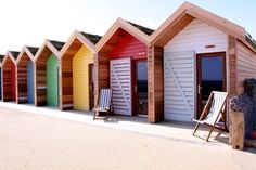 Blyth Beach huts - the only huts in Northumberland