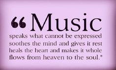 Love this quote about music!