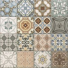 SAMPLE Victorian Tangier Blue Decor Wall Floor Tile Tangier
