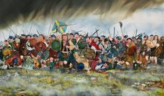 The Last Highland Charge by Richard Moore. On the 16th April 1746, the Jacobites mounted their last Highland Charge. Wet, hungry and weary, the Jacobites charged into the guns and bayonets of the Duke of Cumberlands army. Raked with cannon fire, rifle shot and grapeshot the survivors closed in. This painting shows the charge as the Redcoats would have seen it, and features Jacobites from the left wing, the Atholl Brigade, the Camerons and the Stuarts of Appin.