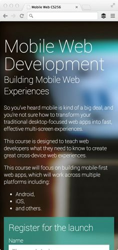 #Google #developers, excelente manual online para el desarrollo web multidispositivo. Se centra en tutoriales prácticos para el desarrollo de diseños multi-dispositivo; Formularios y entradas de usuarios; Imágenes, audio y vídeo y optimización del rendimiento.