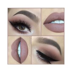 40 Eye Makeup Looks for Brown Eyes ❤ liked on Polyvore featuring beauty products, makeup, eye makeup, eyebrow cosmetics, eyebrow makeup, brow makeup and eye brow makeup