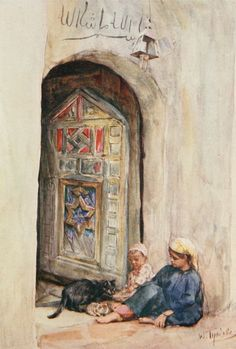 Tyndale, Walter (1855-1943) - Below the Cataracts 1907, An Arab doorway. #egypt