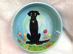 Pet Bowl 8 Dog Bowl for Food or Water Personalized at no Charge Signed by Artist Debby Carman -- You can get additional details at the image link.
