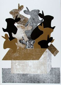 #graphics#box of bunnies by ania stanisz