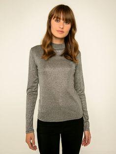 Lange mouw glitter blouse | PIECES
