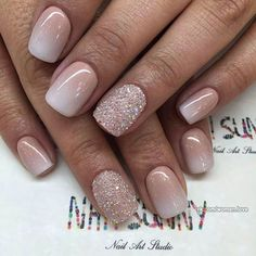 Extend fashion to your nails by using nail art designs. Donned by fashionable celebrities, these nail designs will incorporate instant charm to your wardrobe. Perfect Nails, Gorgeous Nails, Love Nails, Fun Nails, Pretty Nails, Glitter Nails, Pink Glitter, Sparkle Nails, Glitter Ombre Nails