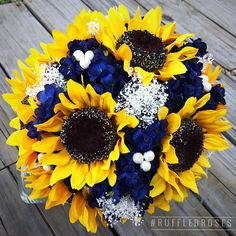 Navy Sunflower Bouquet, Sunflower and Navy Bouquet, Sunflower Bridal Bouquet Navy Sunflower Bouquet Navy Blue Bouquet Sunflower Bouquet Sunflower Corsage, Sunflower Boutonniere, Sunflower Bouquets, Sunflower Flower, Sunflower Centerpieces, Yellow Bouquets, Cactus Flower, Navy Bouquet, Bride Bouquets