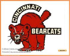 Cincinnati Bearcats - College Sports Embroidery Logo in 4 sizes - Cincinnati Bearcats, University Of Cincinnati, Cincinnati Reds, Sports Team Logos, Red Cat, College Basketball, Art Logo, Nhl, Colleges