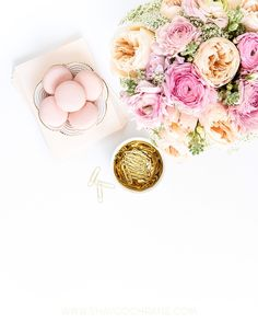 Blush Pink and Gold Desktop styling. Styled Stock Photography for creative businesses and bloggers. Commercial Styling and Commercial photography by Shay Cochrane.