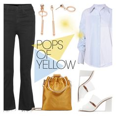 """""""Pops of Yellow"""" by helenevlacho ❤ liked on Polyvore featuring Mother, STELLA McCARTNEY, Neous, Theory, contestentry, PopsOfYellow and NYFWYellow"""