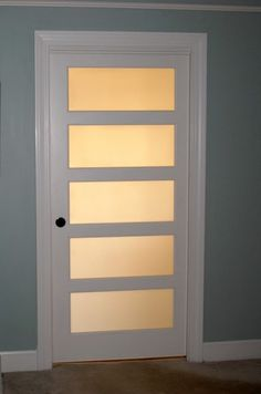 Frosted Glass Pocket Door For Between Master Bath And Hallway To Bring In  Natural Light To The Dark Hallway