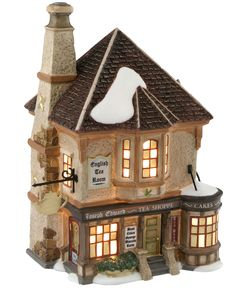Department 56 Dickens' Village Joseph Edward Tea Shoppe Collectible Figurine - Holiday Lane - For The Home - Macy's
