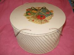 Vintage sewing baskets. I have one just like this.