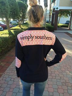 Simply Southern Collection zip front pullover  navy