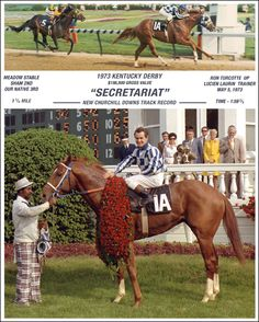 Secretariat Wins The 1973 Kentucky Derby  Sets A Track Record That Still Stands Today