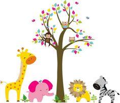 Kit Safari com Árvore - 338DBC   ADcorista Arte & Decoração   Elo7