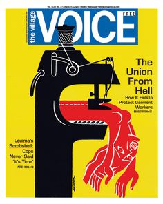 Village Voice Illustration by Luba Lukova Graphic Illustration, Graphic Art, Graphic Design, Luba Lukova, Call For Entry, Expo, Cool Posters, Aesthetic Art, Editorial Design