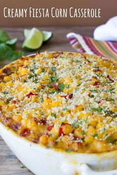 Fiesta Corn Casserole This Creamy Fiesta Corn Casserole is pure southwest-inspired comfort food full of colorful peppers and melty cheese.This Creamy Fiesta Corn Casserole is pure southwest-inspired comfort food full of colorful peppers and melty cheese. Enchiladas, Hashbrown Casserole, Casserole Recipes, Corn Cassarole, Burrito Casserole, Hamburger Casserole, Chicken Casserole, Corn Dishes, Vegetable Dishes