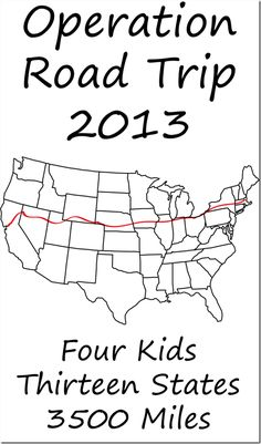 Great tips in this post on planning a family road trip - activities in the car, and what to bring to keep the kids busy both in the car and in the hotel rooms. This plan saw one family happily from Boston to San Francisco!