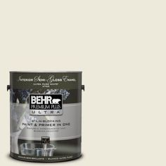 Match paint to IKEA GRIMSLOV off-white cabinet  BEHR Premium Plus Ultra Home Decorators Collection 1-gal. #HDC-CT-27 Swiss Cream Semi-Gloss Enamel Interior Paint