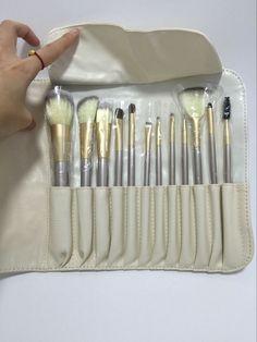 www.sanrense.com - Women 12PCS Pro Make-Up Brushes Foundation Powder Blush Eyeshadow Brush w/ Pouch Bag