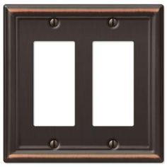 Hampton Bay, Chelsea 2 Decora Wall Plate - Aged Bronze, at The Home Depot - Mobile Chelsea, Acrylic Mirror, Old Wall, Switch Plate Covers, Switch Plates, Outlet Covers, Steel Wall, Plates On Wall, Oil Rubbed Bronze