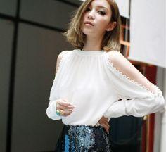blusas blancas elegantes - Google Search