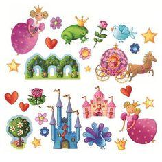 Stickers repositionnables - princesse Marguerite  - Annikids