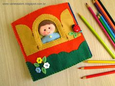 Very sweet a day in the life of a boy. Baby Quiet Book, Felt Quiet Books, Baby Crafts, Felt Crafts, Felt Case, Sensory Book, Quiet Book Patterns, Sick Kids, Books For Boys