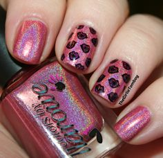 Holo Kissy Lips stamping decals using CbL Runt, CbL Oxen & Bundle Monster BM-H17 plate